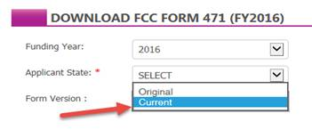 Download FCC Form 471 for FY 2016