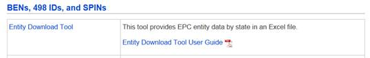 EPC Entity Download Tool