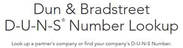 Dun & Bradstreet D-U-N-S number lookup