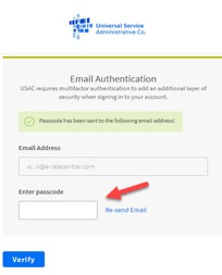 "USAC's new multifactor authentication (""MFA"") process"