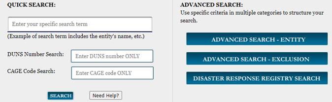 SAM.gov Quick Search