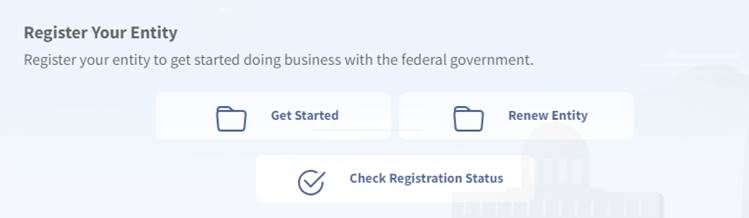 SAM.gov registration section